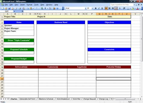 Pmo Templates Free excel spreadsheets help free project management