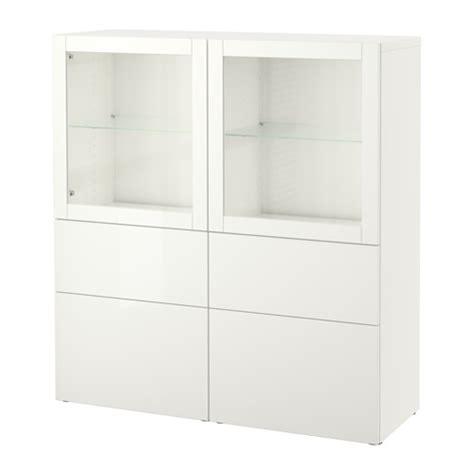 besta 50 cm best 197 storage combination w glass doors lappviken