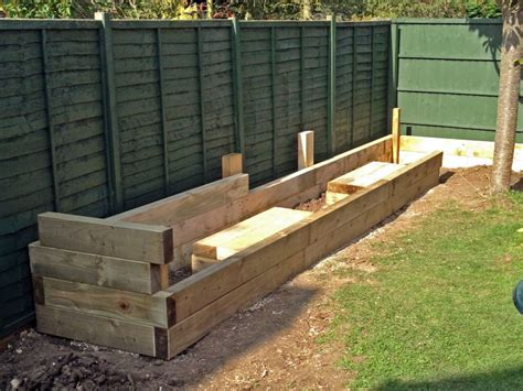ikea raised garden bed les mable s raised beds with bench seats from new railway