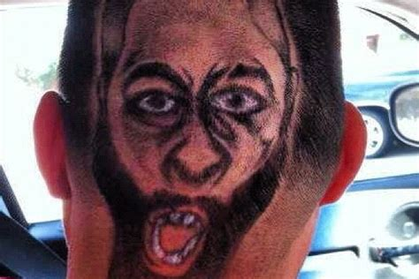 worst haircut ever story rockets fan gets james harden s face carved into hair