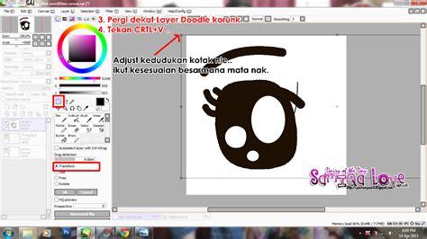 tutorial lukis doodle guna paint tool sai tutorial cara masukkan gambar sai