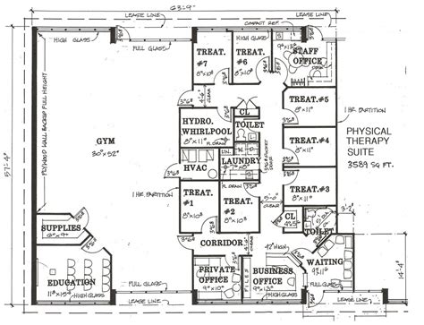 physical therapy clinic floor plans medical office lease space 171 portfolio categories 171 lease