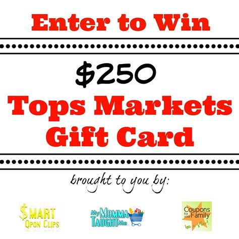 Wegmans Grocery Store Gift Cards - enter to win 250 tops markets gift card my momma taught me