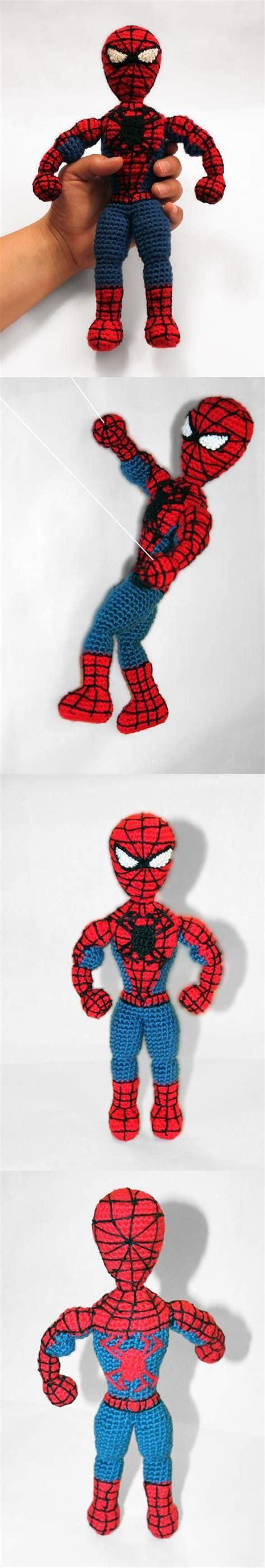 spiderman doll pattern spiderman superhero amigurumi pattern by sahrit shops