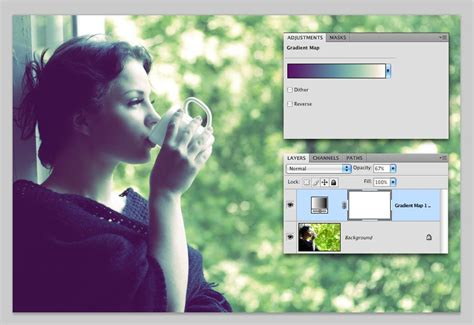 photoshop cs5 gradient map tutorial how to use gradient map adjustment layer in photoshop cs5