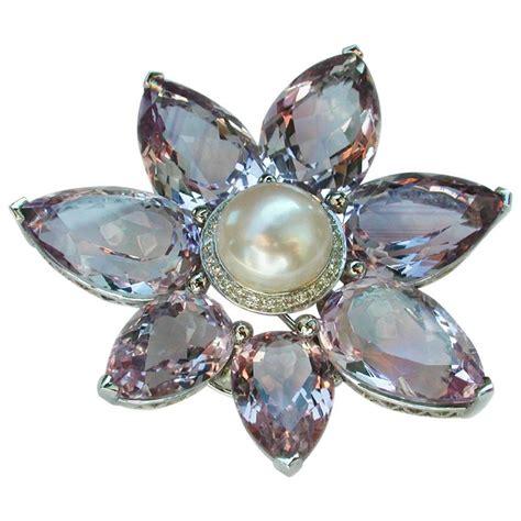 124 carat purple amethyst australian pearl coco