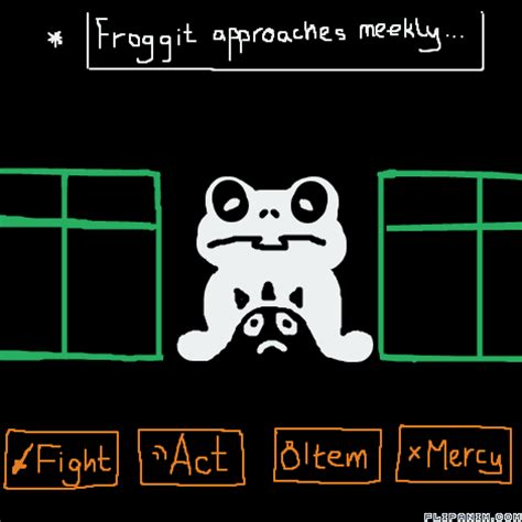 Undertale 3-Froggit Battle - FlipAnim Froggit Battle