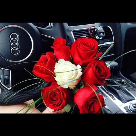 Audi Love by Audi Love Red White Rose Roses Gift Romantic