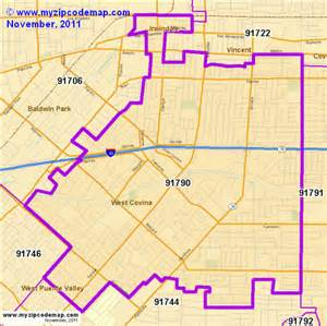 map of west covina california zip code map of 91790 demographic profile residential