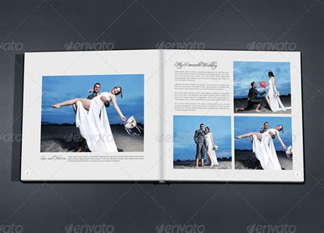 Wedding Photo Album Horizontal Brochure Template by Wedding Album Template 21 Free Premium