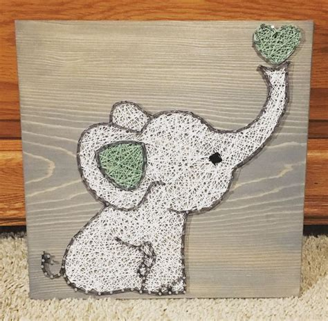 String Elephant - elephant string nursery order from kiwistrings on