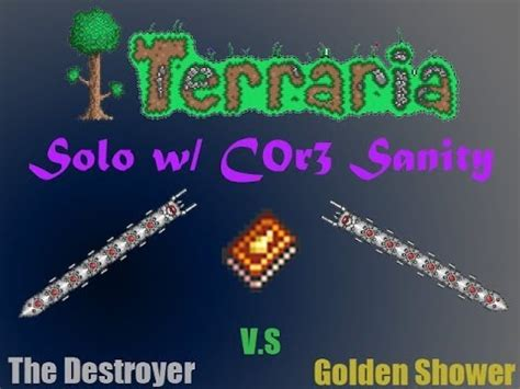 Golden Shower Terraria by Terraria Destroyer Flawless Victory With The Golden Shower W C0r3 Sanity