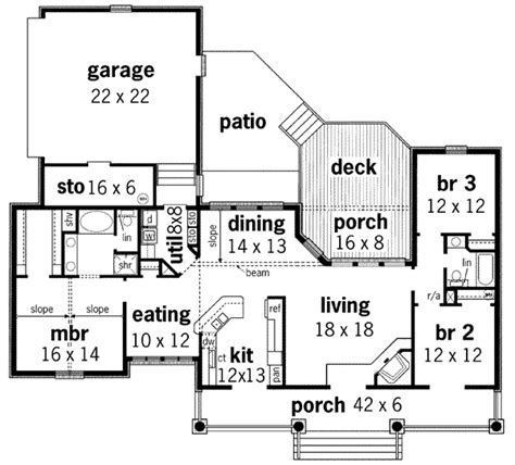house plan 45 8 62 4 european style house plan 3 beds 2 baths 1672 sq ft plan