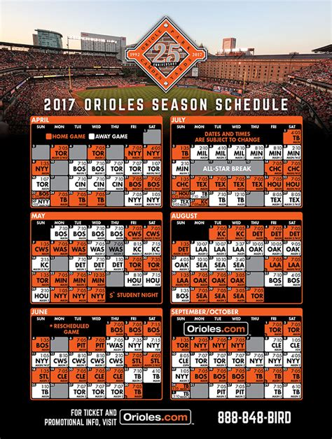 Orioles Giveaways 2017 - printable schedule baltimore orioles