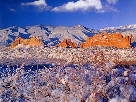 Garden Of The Gods Winter by Beautiful Mountain View Hd Wallpapers Widescreen