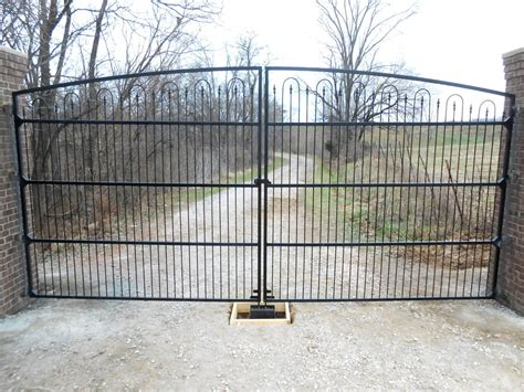 wide gates custom made wrought iron driveway gate 18 wide
