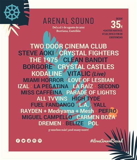 comprar entradas arenal arenal sound 2016 entradas horarios cartel un