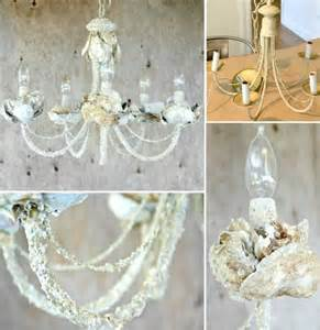 Diy Shell Chandelier Diy Upcycled Shell Chandeliers Http Www Completely