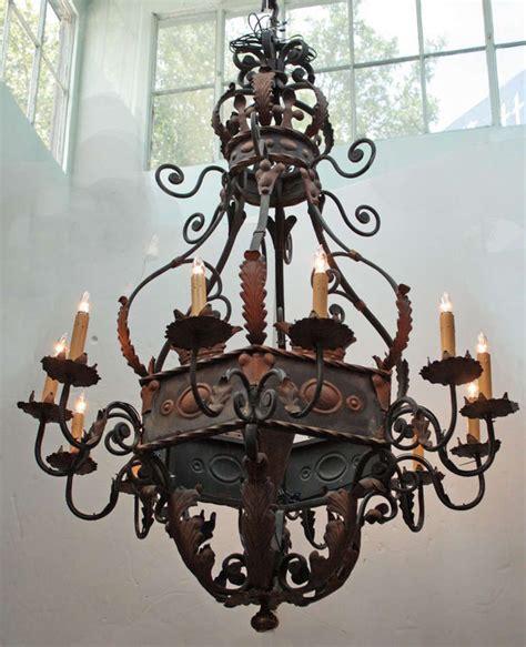 Large Wrought Iron Chandelier Lanterns Ls Chandeliers