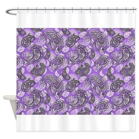 black and white paisley shower curtain paisley on purple shower curtain by stircrazy