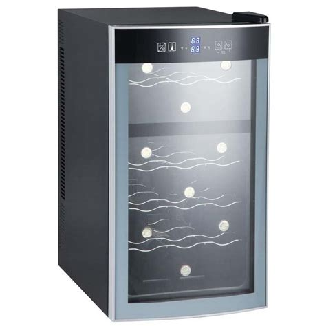 cabinet wine cooler avanti ewc18n2pd 18 bottle thermoelectric dual zone wine cooler black cabinet and glass door