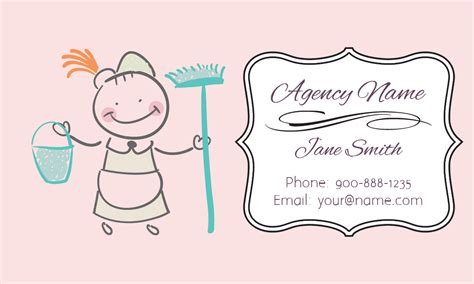 cleaning business cards templates free pink house cleaning business card design 1301101