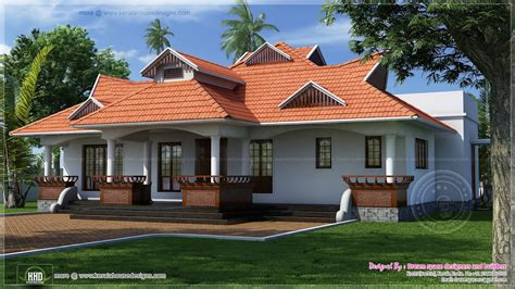 traditional kerala style one floor house house design plans