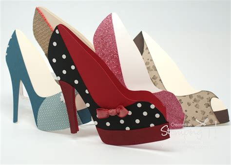 shoe card template high heel shoe card stin up australia independent