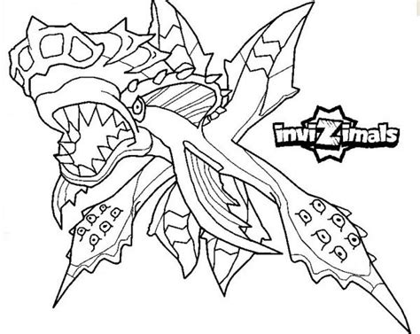 invizimals tiger shark coloring page tous coloriage invizimals