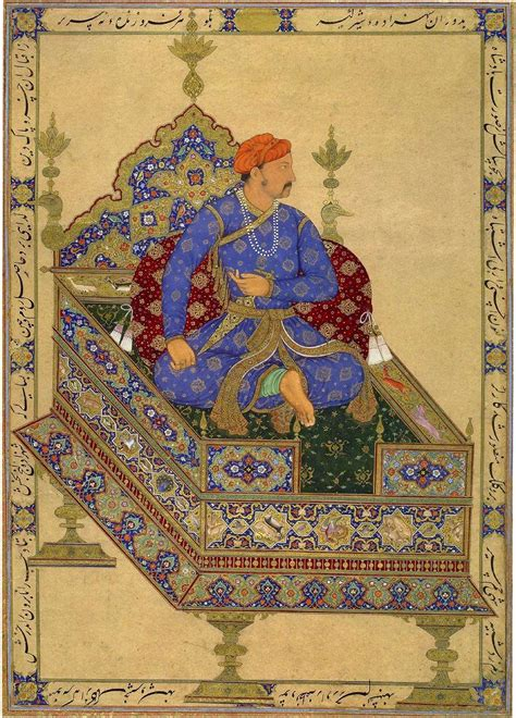 jahangir biography in hindi prince salim enthroned by manohar portrait and mansur