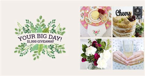 Oriental Trading Wedding Giveaway - oriental trading your big day 1 000 monthly giveaway
