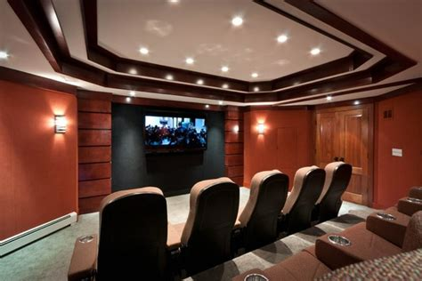 Living Room Theater Nyc Media Cave Home Theater Projector Rooms Contemporary