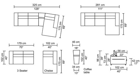 sectional sizes sofa measurements in cm infosofa co