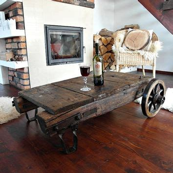 vintage wood cart coffee table best industrial cart coffee table products on wanelo