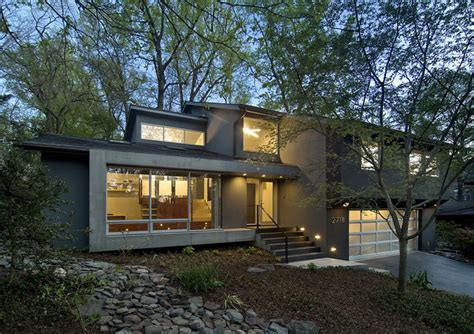 modern split level homes arlington residence contemporary exterior dc metro