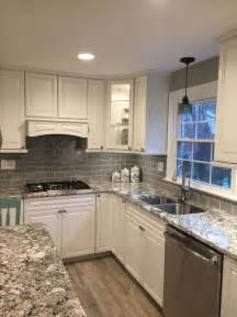 gray glass tile kitchen backsplash 25 best ideas about gray subway tile backsplash on