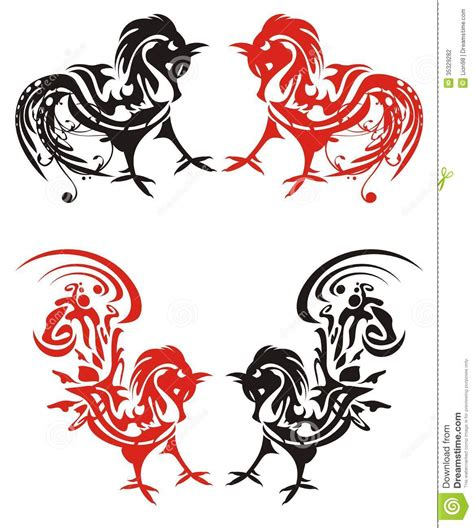 tribal rooster tattoos rooster images designs
