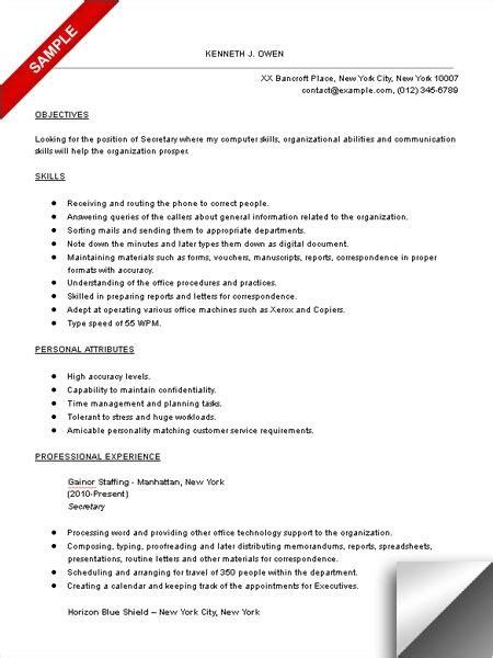 secretarial resume template resume ingyenoltoztetosjatekok