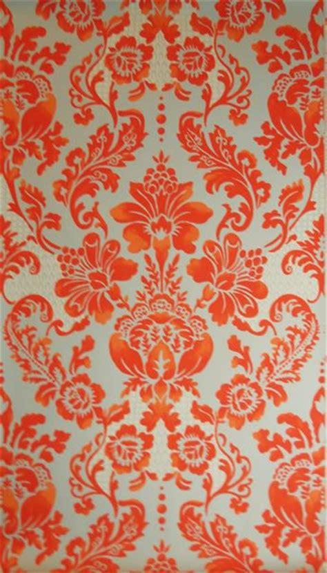 palais blood orange wallpaper  tyler hall house