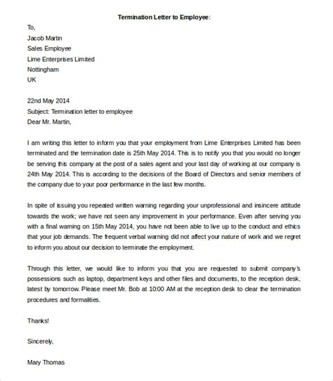 termination letter sle redundancy 28 images redundancy