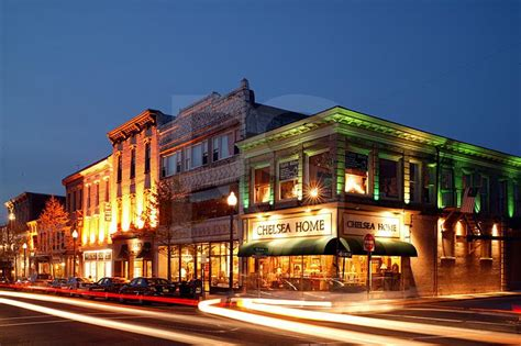 downtown red bank new jersey broad street and mechanic street at dusk