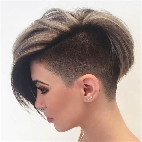 tips for hairstyle for broad headed 23 most badass shaved hairstyles for women half shaved