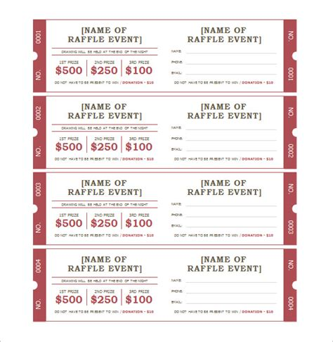 microsoft word ticket template ticket templates 99 free word excel pdf psd eps