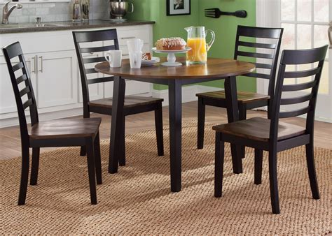 cafe black and cherry fix top dining room set from