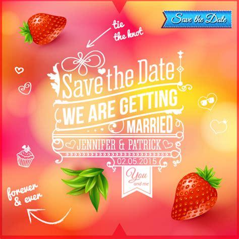 Wedding Logo Background by Summer Style Wedding Invitation Background Vector 01