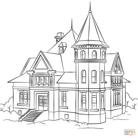 haunted house coloring pages free haunted house coloring pages haunted house coloring