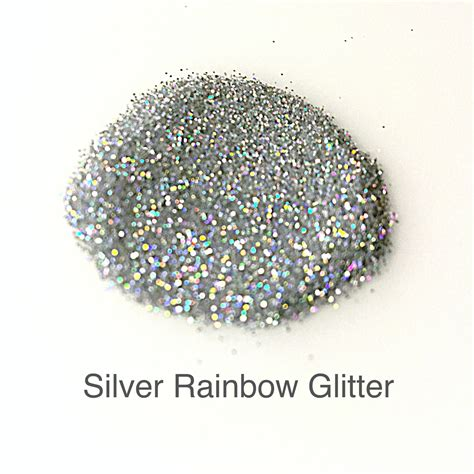 Flat Gliter Silver Rainbow silver rainbow glitter micas and more