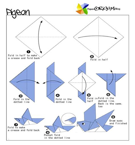 Origami Bird Directions - origami craft bird origami