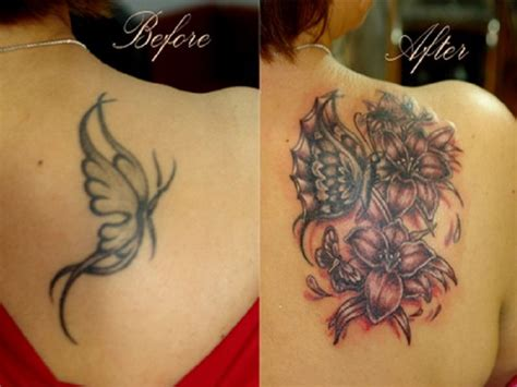 tattoo cover up design back neck wings cover up inofashionstyle