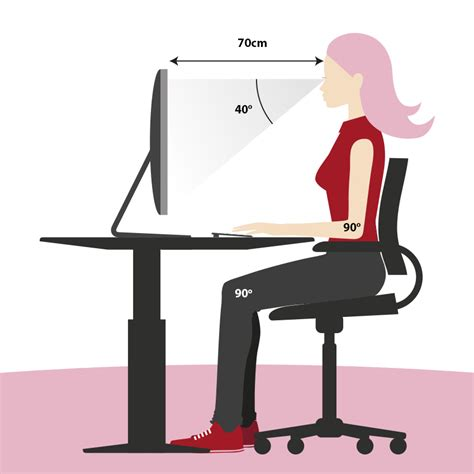 Office Desk Posture How To Sit Correctly The Correct Sitting Position Jysk